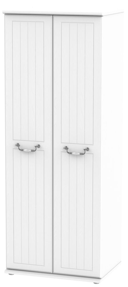 Coniston White 2 Door Tall Wardrobe