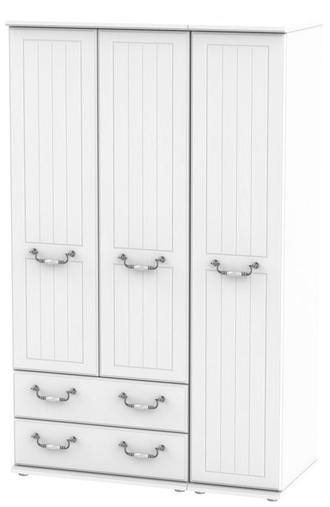 Coniston White 3 Door 2 Left Drawer Wardrobe