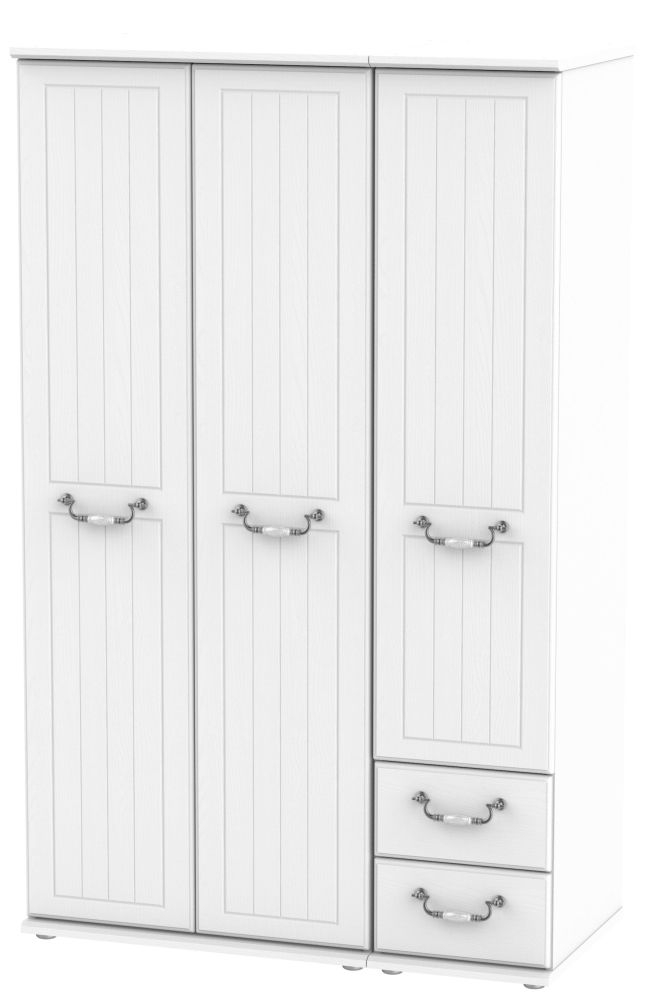 Coniston White 3 Door 2 Right Drawer Wardrobe