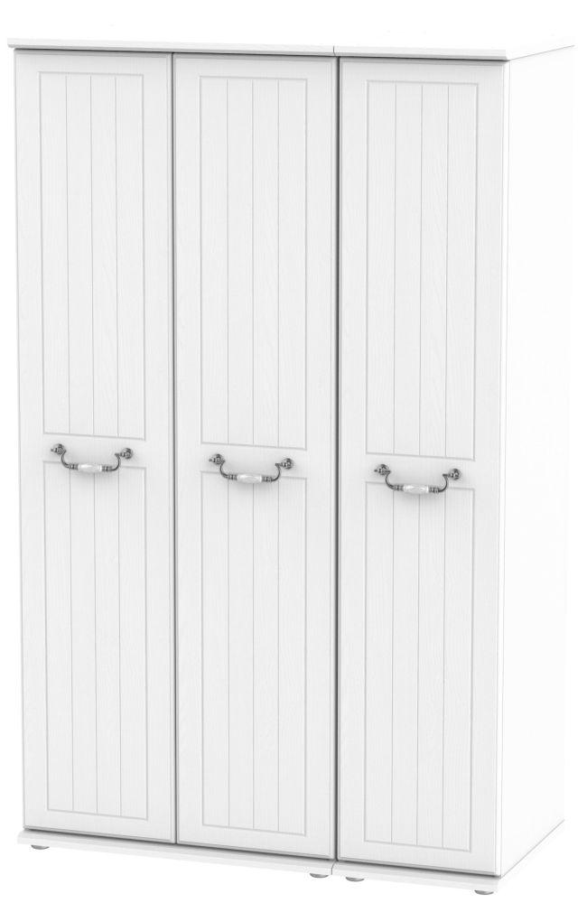 Coniston White 3 Door Wardrobe