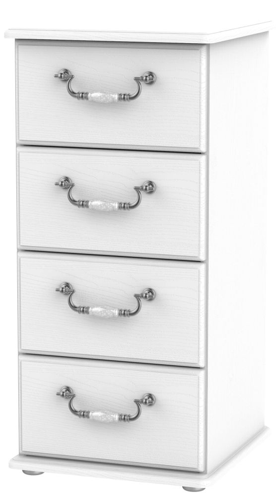Coniston White 4 Drawer Tall Chest