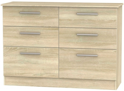 Contrast Bardolino 6 Drawer Midi Chest