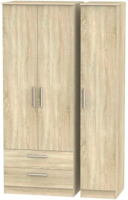Contrast Bardolino 3 Door 2 Drawer Wardrobe