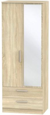 Contrast Bardolino 2 Door Combi Wardrobe