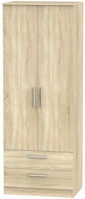 Contrast Bardolino 2 Door 2 Drawer Wardrobe
