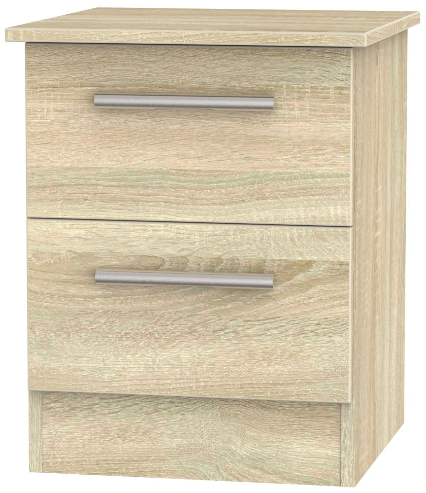 Contrast Bardolino 2 Drawer Locker Bedside Cabinet