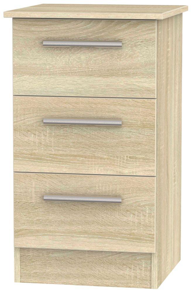 Contrast Bardolino Bedside Cabinet - 3 Drawer Locker