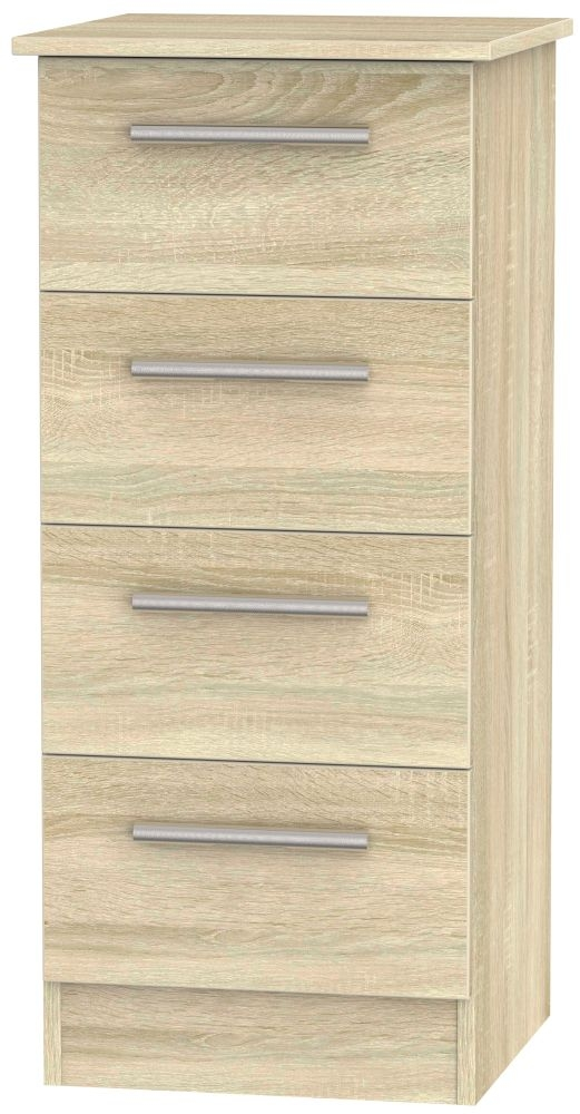 Contrast Bardolino Chest of Drawer - 4 Drawer Locker