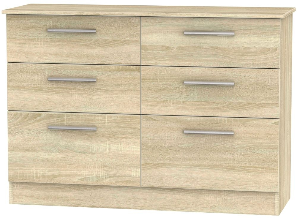 Contrast Bardolino Chest of Drawer - 6 Drawer Midi