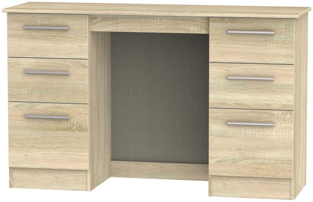 Contrast Bardolino Double Pedestal Dressing Table