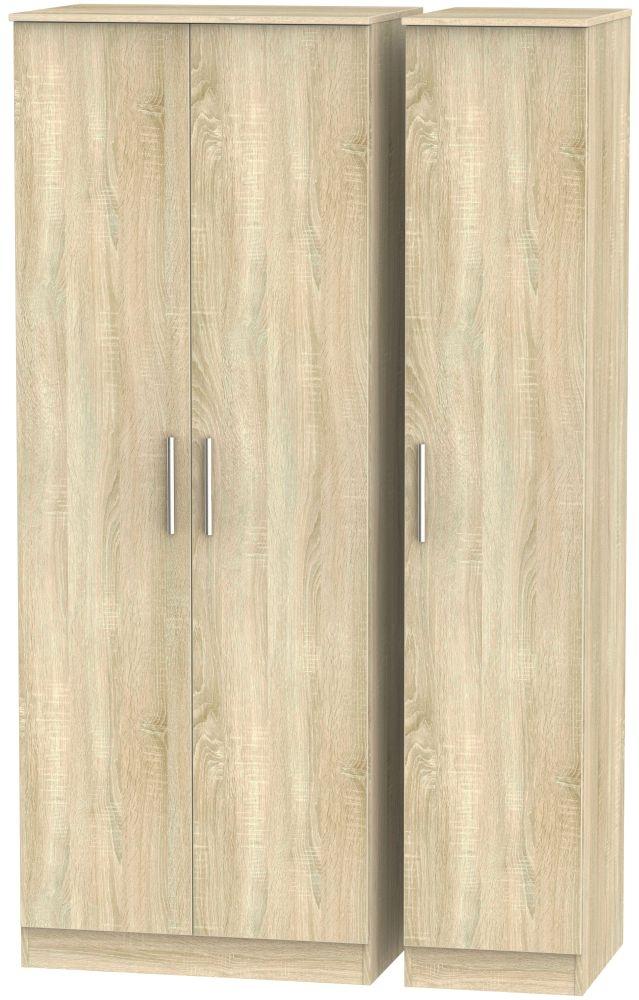 Contrast Bardolino 3 Door Tall Plain Triple Wardrobe