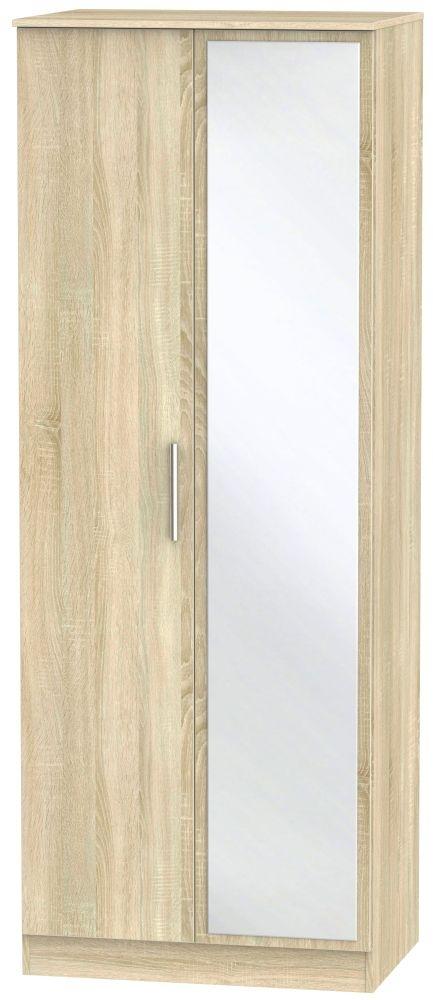 Contrast Bardolino 2 Door Tall Mirror Double Wardrobe