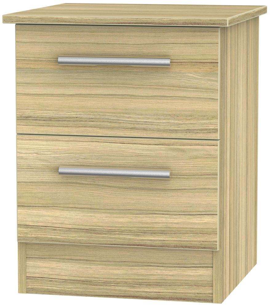 Contrast Cocobolo Bedside Cabinet - 2 Drawer Locker