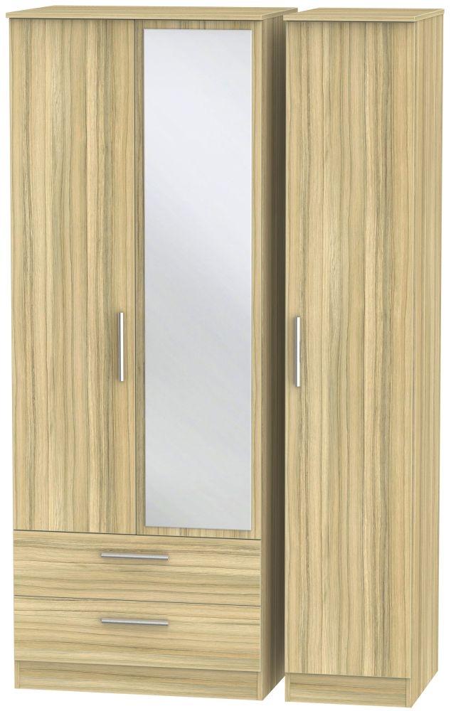 Contrast Cocobolo 3 Door Combi Wardrobe