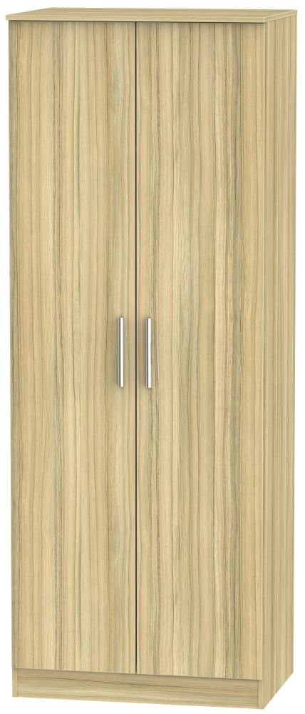 Contrast Cocobolo Wardrobe - Tall 2ft 6in Plain