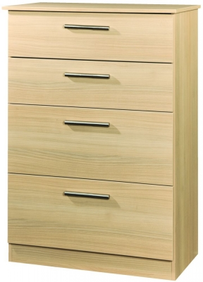 Contrast Elm 4 Drawer Deep Chest