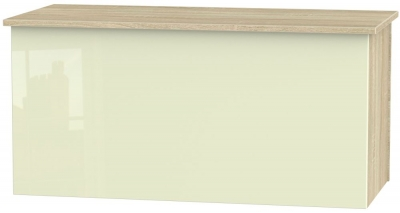 Contrast Blanket Box - High Gloss Cream and Bardolino