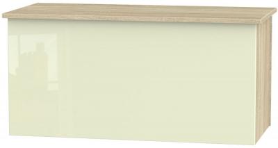 Contrast Blanket Box - High Gloss Cream and Bardolino