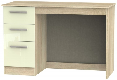 Contrast Desk - High Gloss Cream and Bardolino