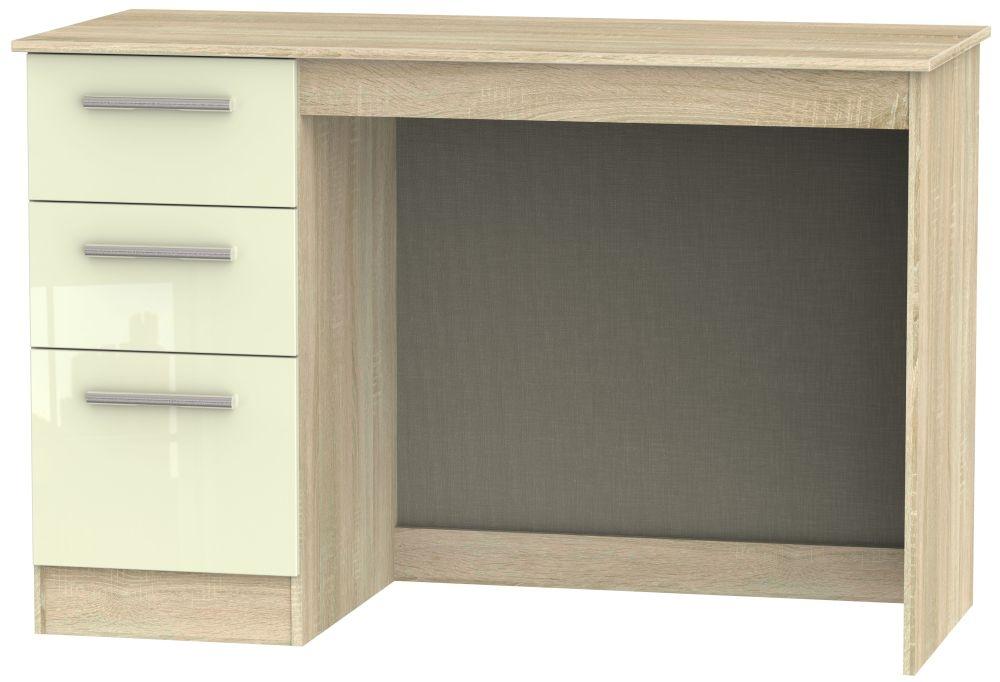Contrast Desk - High Gloss Cream and Bardolino
