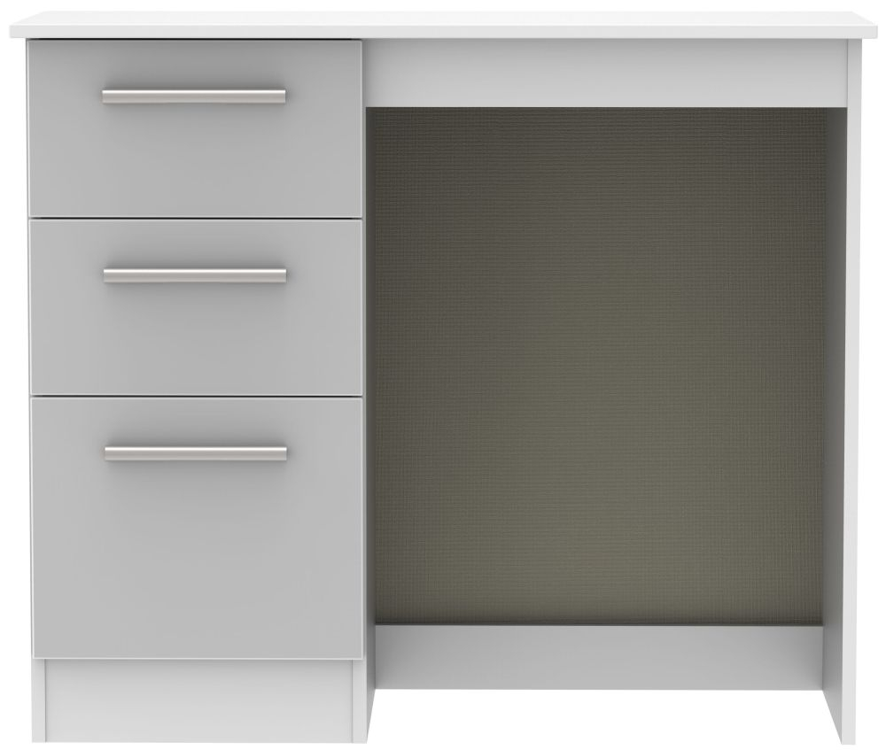 Buy Contrast High Gloss Grey And White Vanity Dressing