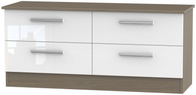 Contrast Bed Box - High Gloss White and Toronto Walnut