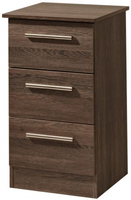 Contrast High Gloss Bedside Cabinet - 3 Drawer Locker