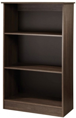 Contrast High Gloss Bookcase - 2 Shelves