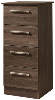 Contrast High Gloss Chest of Drawer - 4 Drawer Locker