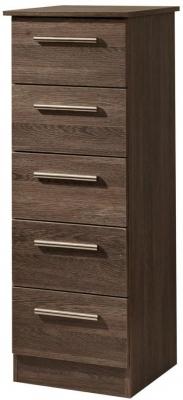 Contrast High Gloss Chest of Drawer - 5 Drawer Locker
