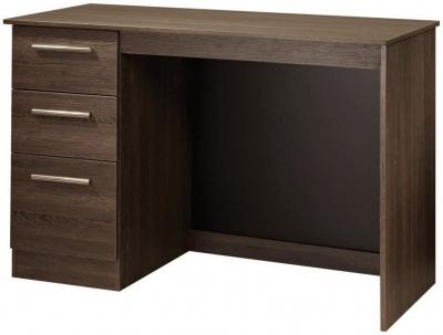 Contrast High Gloss Desk - 3 Drawer
