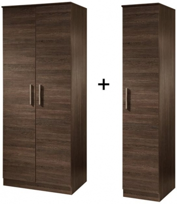 Contrast High Gloss Tall Triple Plain Wardrobe