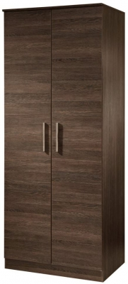 Contrast High Gloss Wardrobe - Tall 2ft 6in Plain