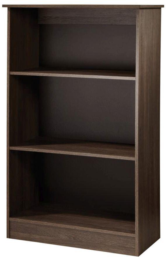 Contrast High Gloss Bookcase - 2 Shelves