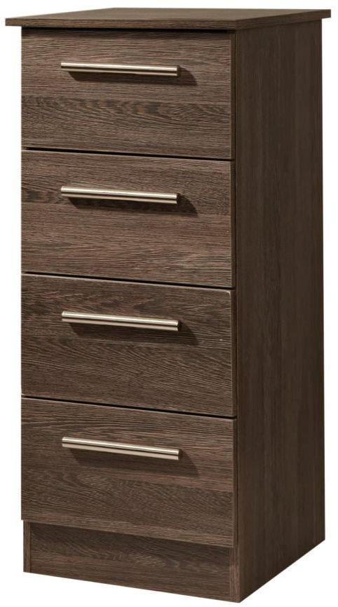 Contrast High Gloss Chest of Drawer - 4 Drawer Locker