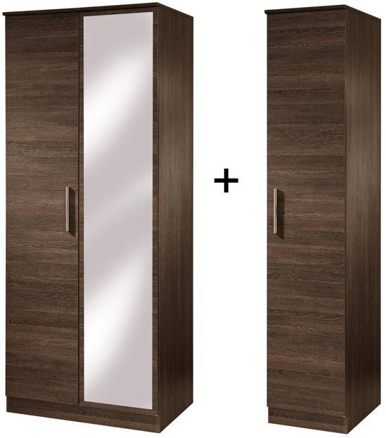 Contrast High Gloss Tall Triple Mirror Wardrobe