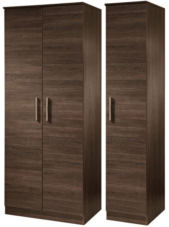 Contrast High Gloss Triple Wardrobe - Tall Plain