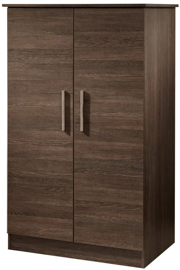 Contrast High Gloss Wardrobe - 2ft 6in Plain Midi