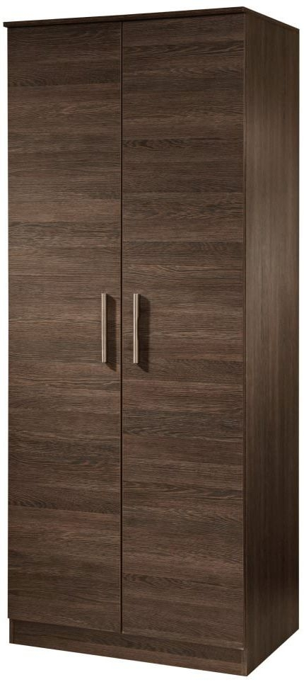 Contrast High Gloss Wardrobe - 2ft 6in Tall Plain