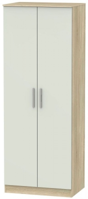 Contrast 2 Door Wardrobe - Kaschmir Matt and Bardolino