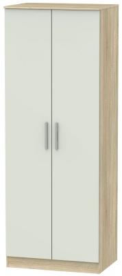 Contrast Kaschmir Matt and Bardolino 2 Door Plain Double Wardrobe