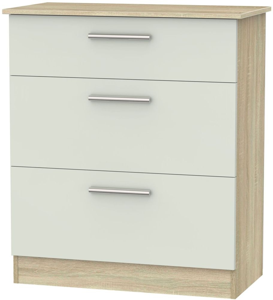 Contrast 3 Drawer Deep Chest - Kaschmir Matt and Bardolino