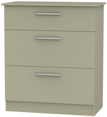 Contrast Mushroom 3 Drawer Deep Chest
