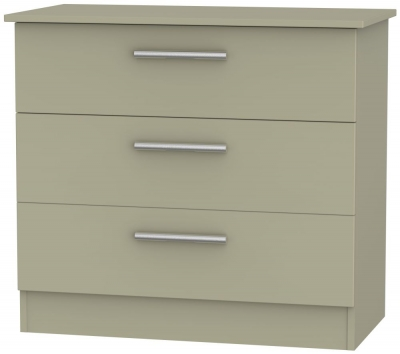 Contrast Mushroom 3 Drawer Chest