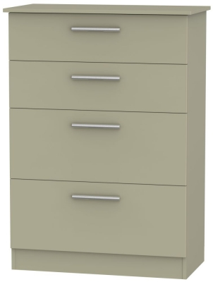 Contrast Mushroom 4 Drawer Deep Chest