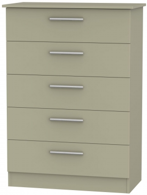 Contrast Mushroom 5 Drawer Chest