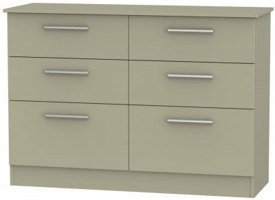 Contrast Mushroom 6 Drawer Midi Chest