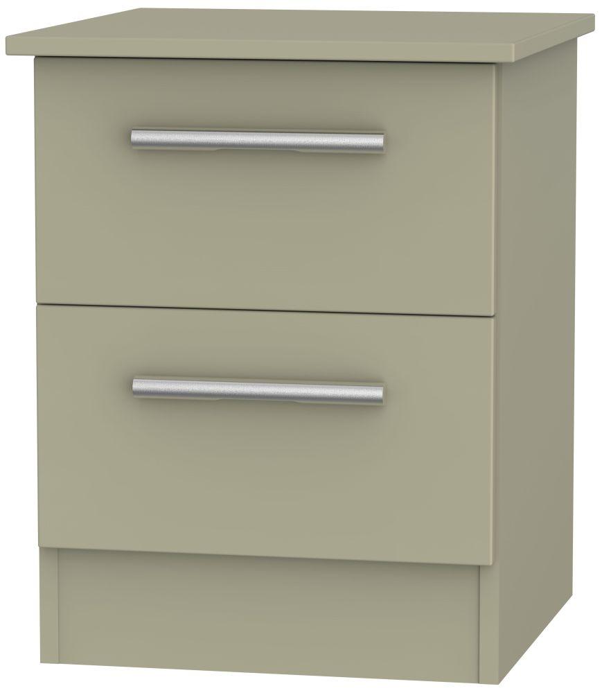 Contrast Mushroom Bedside Cabinet - 2 Drawer Locker
