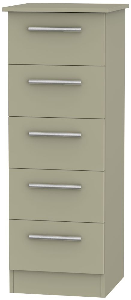 Contrast Mushroom 5 Drawer Locker Chest