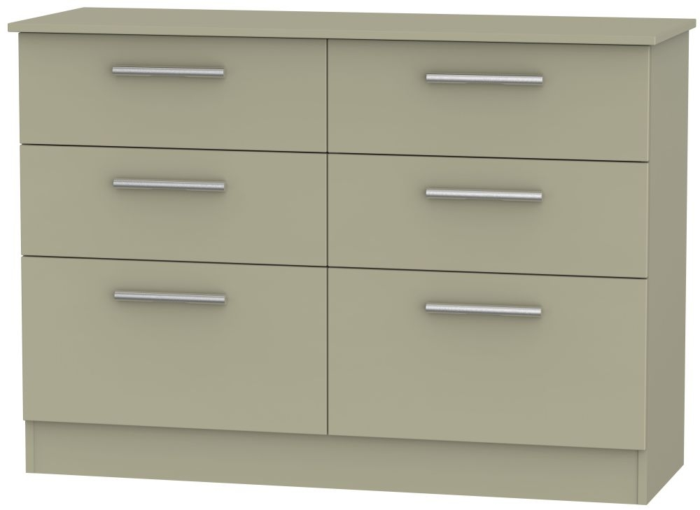 Contrast Mushroom Chest of Drawer - 6 Drawer Midi